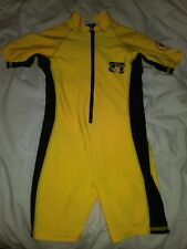 Body Glove Youth / Kids Suit UVA Sun Protect Size M Medium Yellow and Black