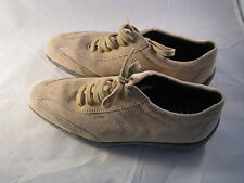 Geox Respira Tan Suede Leather Fashion Sneakers Size EUR 37 US 7.5