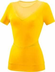 Sports Shirt Functional Shirt Adidas Run Perf T-Shirt, Ladies, Yellow, Size 2XS