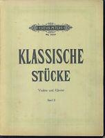 Klassische Stücke ~ Violine und Piano , Band II, Partitur