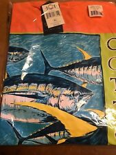 Yellow Fin   Saltwater Fishing T Shirts - 100% Cotton Jersey Size XL Color Coral