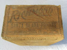 CAISSE EN BOIS US RICHMOND CALIFORNIE SANTA CLARA PRUNES  US WWI / WWII
