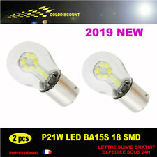kit 2 p21w led  6000k 18 smd 3030 blanc pur protection verre new 2019 *
