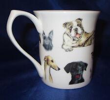 Scallywags Taza de café Fino Porcelana China Negro Laboratorio Beagle