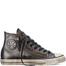 NIB $190 Converse John Varvatos CTAS DBL Zip Hi Black/Silve 151281C  US Mens 7