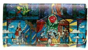 Beauty And The Beast Themed Trifold Clutch Wallet