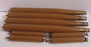 """VINTAGE MCM SET OF (4) STEP TABLE 15"""" LONG TAPERED WOODEN LEGS & 5"""" SPINDLES"""