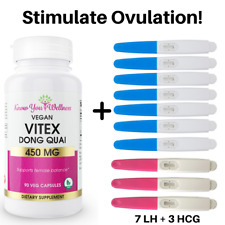 Vitex Chasteberry AgnusCastus Ovulation Test Kit Fertility Pills PCOS Supplement