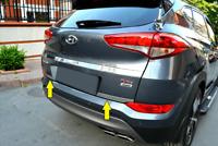 2015-2017 HYUNDAI TUCSON Chrome Rear Trunk Tailgate Lid Molding Trim S.Steel