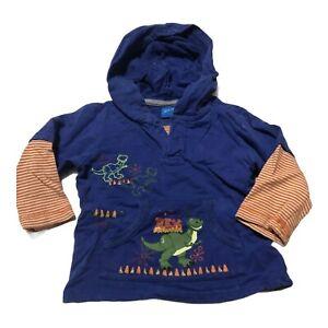 Disney Toy Story T-Rex Hooded Long Sleeve Sweatshirt Dinosaur 24 Months