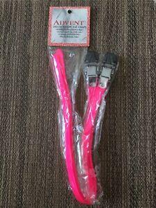 ADVENT Deluxe Nylon Toe Straps - Neon Pink - Pair - NOS