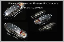 100% Real Carbon Fiber CF Key Case Cover for Porsche Cayenne Panamera Cayman 911