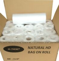 """HD Natural Clear Polythene BAGS ON ROLL 9 x14""""