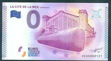 BILLET 2015  SOUVENIR TOURISTIQUE 0 EURO CITE DE LA MER NUMERO MIROIR N°121