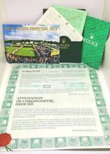 ROLEX  OYSTER PERPETUAL 1999 15210 Certificate Guarantee Warranty Documents