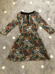 Mango Floral Print Dress Size 8
