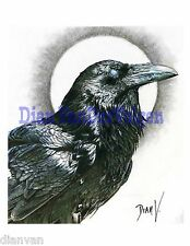Raven Print of my Drawing