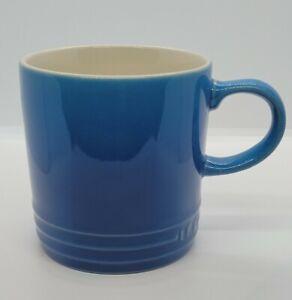 LE CREUSET Stoneware Coffee Mug Cup Second Choix 12 oz 350 ml Marseille Blue
