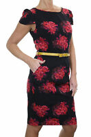 ICE (3980) New With Tags Designer Feel Dress Black Floral Print Sizes 10 / 14
