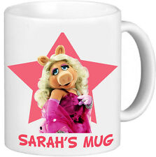 MISS PIGGY MUPPET SHOW Personalised Name Mug Bithday Christmas Gift  2
