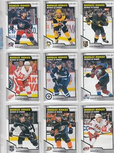 2020-21 O PEE CHEE MARQUEE ROOKIES a lot of 12 DIFFERENTS CARDS near mint LOT7 a