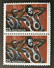 1971 Australian Stamps - Aboriginal Art - Body Decorating - Double MNH