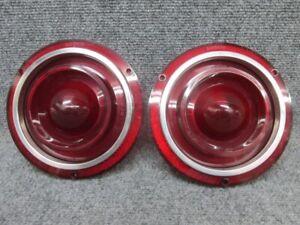 Pair of 1962 Ford Galaxie Tail Light Stop Brake Light Lamp Lenses - NORS