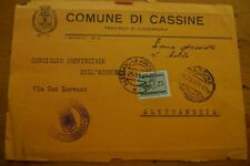 ITALY RSI REPUBBLICA SOCIALE 1943 POSTAGE DUE USED ON  FRONT ONLY
