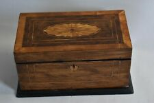 More details for inlaid edwardian tea caddy with internal lids