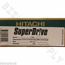 Hitachi 17501s #8 1-1/4 in Cement/Hardieplank board 1000ct SuperDrive Screws LOX