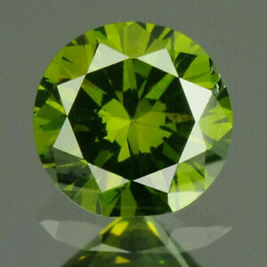 0.18 Carat NATURAL Vivid Green DIAMOND LOOSE for Setting Round 3.50x2.20mm