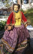 paper mache head and sawdust body doll