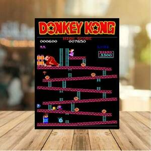 Donkey Kong classic 80s METAL WALL sign PLAQUE retro gaming man cave games room