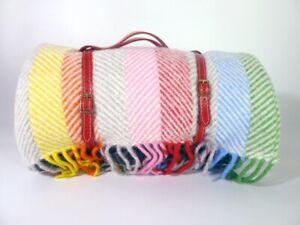 Heating & Plumbing London Pure Wool Waterproof Picnic Blanket Rainbow (RRP:£155)