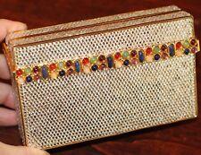 edcd0061e JUDITH LEIBER SWAROVSKI CRYSTAL UNIQUE BOX GEM MINAUDIERE CLUTCH EVENING BAG