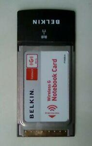 Belkin F5D7010 802.11g Wireless G Notebook Card 54Mbps CardBus WiFi