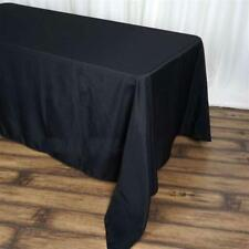 90x156 inch Black polyester Table cloth