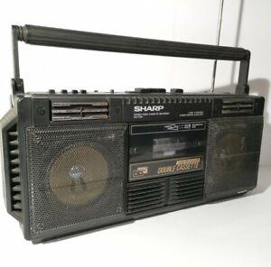 Sharp WQ-T234 Stereo Radio Double Cassette  Retro Ghetto Blaster Spares / Prop