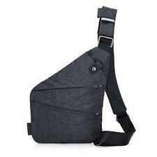 Bolsa de Hombro Personal Bolsillo Antirrobo De Viaje Hombres Bandolera Sling Pack de pecho
