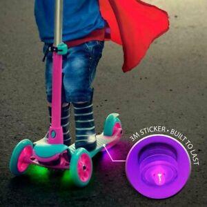 GlowCity Adhesive LED Easily Attach Skateboard Durable Six Micro Pod Lights