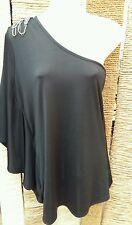 NEXT Nuovo Con Etichetta donna nero monospalla gioiello Top Taglia 8 RRP £ 25