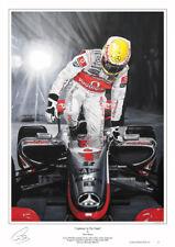 Lewis Hamilton Limited Edition F1 Art Print