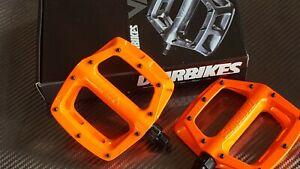 DMR V8 V2 (Version 2) Pedals BMX Mountain Bike HIGHLIGHTER ORANGE New in box