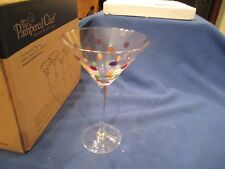 The Pampered Colored Dot Stemware Set of 4 Martini Glasses Retired #2838