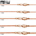 TT 9K Rose Gold Filled Box Chain Width 0.8-1.5mm Length 35-70cm (CF103)