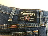 Vintage Wrangler PBR Men's Jeans Size 34x38 Rodeo Cowboy Dark Wash Starched