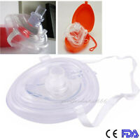 CPR Pocket Fit for Resuscitator Rescue Mask CPR Face Shield+ Red Case First Aid