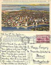 U.S.A. - Downtown Oakland - YEAR 1937 - BEAUTIFUL STAMP AND PRINT -  (F - L 016)