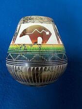 Navajo ceramic horse hair pottery.by hilda whitegoat
