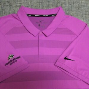 NIKE ZONAL COOLING POLY GOLF SHIRT--XL--COLORADO NATIONAL--AWESOME COLORS!!!!